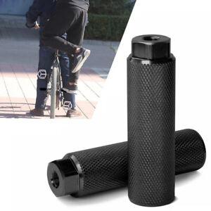 2x Bike Rear Alloy Foot Stunt Pegs Footrest Lever MTB BMX Trick Nuts Grip Axle