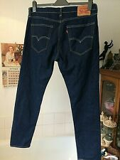 "Levi 512 ~ dark blue 512 slim/ tapered zip fly jeans 36""W x 32""L worn once only"