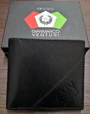 Gian Marco Venturi Portafoglio Uomo 100% Pelle Porta Carte Credito & Fermasoldi