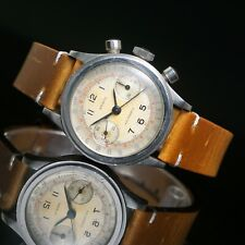 Aristo Non Magnetic Chronograph Stainless Steel Valjoux 23 Watch XLNT ORIG, NR!
