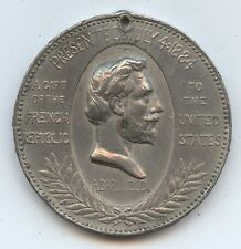 Exonumia 1884 Statute of Lib. Medal (#7997) Presentation A Gift from the French