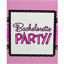 BACHELORETTE Pink & Lace INVITATIONS (8) ~ Wedding Bridal Party Supplies Invites
