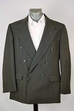 Bert Pulitzer Sport Coat Dark Gray Double Breast 100% Wool 46R