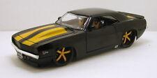 """Jada Bigtime Muscle 1969 Chevy Camaro 1:24 scale 8.5"""" diecast model Black J07"""