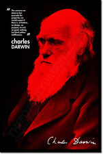 CHARLES DARWIN ART PHOTO PRINT POSTER GIFT EVOLUTION ATHEISM