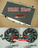Aluminum Radiator+Fans For Nissan GU Patrol Y61 2.8 3.0 TD42 RD28 ZD30 Turbo AT