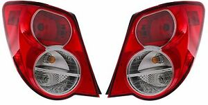 2012 2013 2014 FOR CHEVROLET SONIC SEDAN TAIL LAMP LIGHT LEFT & RIGHT SET 2PCS