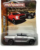 Majorette Toyota Hilux Revo Silver Diecast Car 1:58 Pick Up Series Free Shipping