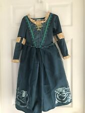 Disney Store Brave Princess Merida Costume Dress-Up Gown Size 4 (xs)