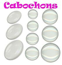 Glas Cabochon 10/12/14/16/18/20/25/30 mm Rund / Oval für Fassung Schmuck Wahlen