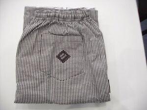 Polyester / Cotton Yarn Dyed Check Drawstring Chef Pants