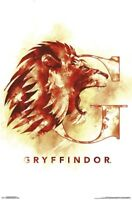 HARRY POTTER - GRYFFINDOR - ILLUSTRATED LOGO POSTER - 22x34 BOOKS ROWLING 16721