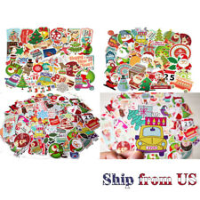 Christmas Xmas Holiday Card Envelope Seal Stickers Decor Gift Wrap 100 Pcs/Set
