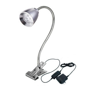 3W LED Clip Clamp Lamp Picture Spotlight Cabinet Reading Table Desk Light Store