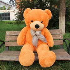 Giant Teddy Bear 4.5 Ft Light Brown Stuffed Plush Animals Toy 55""