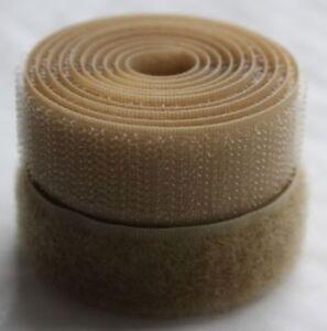 Beige 20mm Sew on Hook and Loop fasteners Various Lengths - Alfatex® Brand