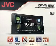 NEW JVC KW-M845BW 2-DIN Apple CarPlay, Android Auto, Car Stereo w/ Bluetooth