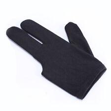 Spandex Snooker Billiard Cue Glove Pool Left Hand Three Finger Black Accessory