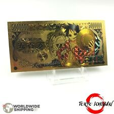 Billet Gold Manga One Piece / Monkey D Luffy / Figurine Carte Card
