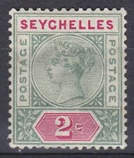 1890-92 QV 2c SEYCHELLES Die 2 MOUNTED MINT SG9