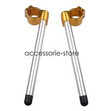 31MM Clip Ons Fork Tube Handle Bars handlebars For Honda Kawasaki Silver&Gold