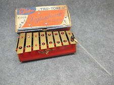 Vintage Tudor Tru-Tone 8 Note Xylophone No. X-200 w/ 1 Mallet & Box