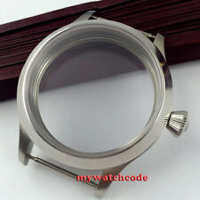 45mm Sapphire Crystal polished Watch Case fit eat 6498 6497 movement C30