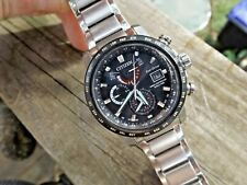 CITIZEN WORLD TIME A-T Radio Controlled ECO-DRIVE MENS WATCH AT9071-58E $650