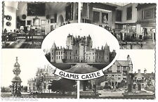 Glamis Castle, Angus, Scotland Real Photo 5 view Postcard - 1964