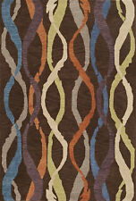 9x13 Dalyn Striped Brown Stripes Waves Lines IS1 Area Rug - Aprx 9' x 13'
