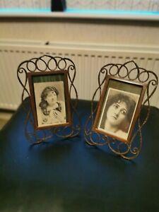Fabulous  Pair Brass Arts & Crafts Art Nouveau Picture Frames