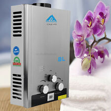 16KW Stainless 8L NG Natural Gas Hot Water Heater Bolier 2GPM Tankless Instant