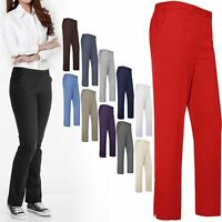 WOMEN LADIES ELASTICATED TROUSER CLASSIC PANTS GIRL UNIFORM SCHOOL OFFICE BOTTOM