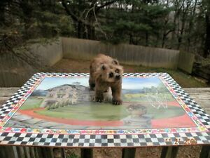 One of a Kind Artist Dollhouse Miniature Sculpted Furred Realistic Grizzly Bear