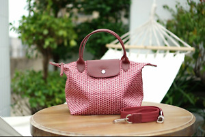 New type Longchamp Le Pliage Neo pink one-shoulder tote bag-very rare