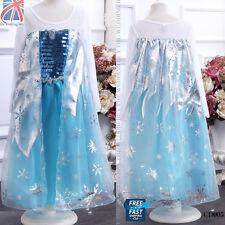 UK Frozen princess REGINA ELSA COSPLAY COSTUME ABITO DA SERA 3-8 anni CD005
