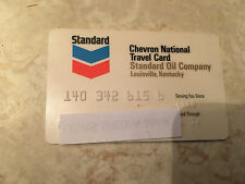 Vintage Standard Oil Company credit charge card expired 1974 National Travel