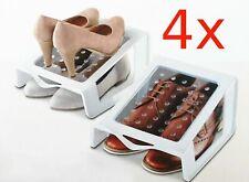 4 x Schuhablage für 16 Paar Schuhe Schuhstapler Schuhregal Schuhschrank Sparset
