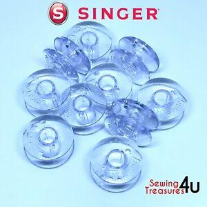 SINGER BOBBINS 66K, 99K, 185K, 201K, 274K, 275K, 285K - Plastic Bobbins Genuine