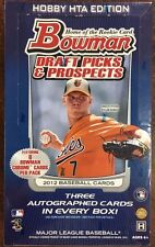 2012 Bowman Draft Picks & Prospects Baseball Jumbo (HTA) Box -3 Hits Per Box