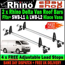Toyota Hi-Ace PowerVan Roof Rack Ladder Bars x2 Rhino Delta To Fit 2002+ Vans