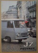 PEUGEOT J7 VAN RANGE orig 1972 1973 Prestige Sales Brochure in English