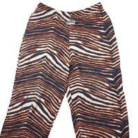 Vintage Chicago Bears Men's Large Orange 90's Zubaz Pants Ditka Da Bears