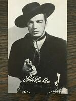 1950'S Era Hollywood Signed Publicity Photo Postcard of Lash La Rue