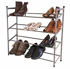 New 4 Tier Shoe Rack Shelf Stackable Shoes Storage Holder Organiser Stand