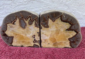 """Shades of Gray, Rusts, & Golds Marble / Granite Bookends 5"""" Tall"""