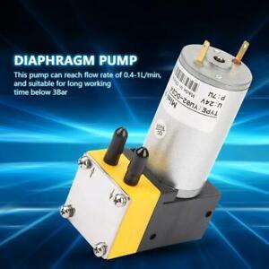 24V Miniatur Membranpumpe Vakuumpumpe Luftpumpe Wasserpumpe 0.4-1L / min 0-40℃