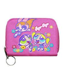 Warner Bros Power Puff Girls Pink Supa Dupa Girls Zip Wallet/Card & Photo Holder