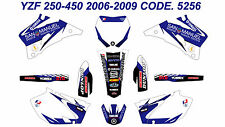 5256 YAMAHA YZF 250 450 2006 2007 2008 2009 DECALS STICKERS GRAPHICS KIT