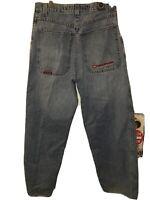 Vintage 90s JNCO Jean Lowdown Baggy 32x32 Streetwear Rave Club Skater Punk